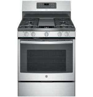 "Adora series by GE® 30"" free-standing gas convection range"