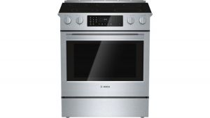 "800 Series 30"" electric slide-in range, HEI8054U, Stainless Steel"
