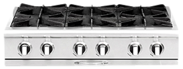 Culinarian 36″ gas range top