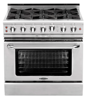 Culinarian 36″ gas self clean range
