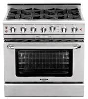 Culinarian 36″ gas self clean range