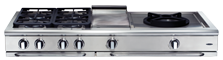 Precision 60″ gas range top