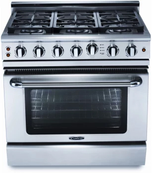 Precision 36″ gas self clean range