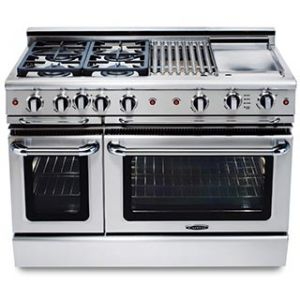 Precision 48″ gas self clean range