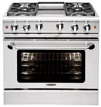 Culinarian 36″ gas manual clean range