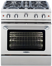 Precision 30″ gas manual clean range