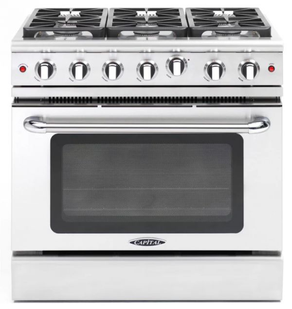 Precision 36″ gas manual clean range