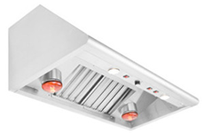 Performance 48″ vent hood w/ heat lamps