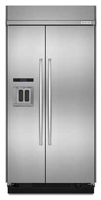 29.5 cu. ft. 48-inch width built-in side by side refrigerator with Printshield™ finish