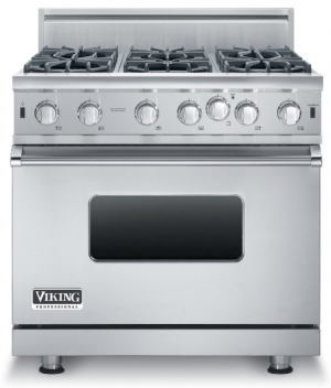 "36"" open burner gas range"