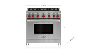 "36"" gas range - 6 burnerse"